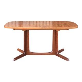 Mid Century Danish Modern Teak Dining Table For Sale