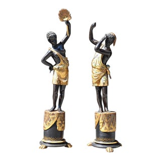 Elegant Pair of French Blackamoors - Early 19th Century For Sale