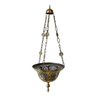 Moroccan Metalwork Pendant Circa 1940s For Sale