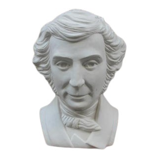 Late 20th Century Don Winton Alexis De Tocqueville Bust For Sale