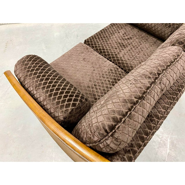 1960s Mid Century Modern Reupholstered Loveseat For Sale - Image 5 of 10