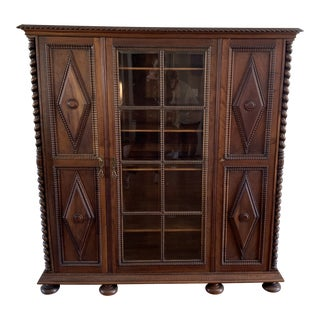 17th Century Spanish Colonial Bookcase For Sale