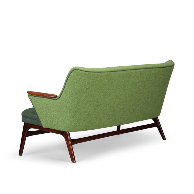 Green Edgy Danish Reupholstered Green Sofa from CFC Silkeborg, 1960s For Sale - Image 8 of 13