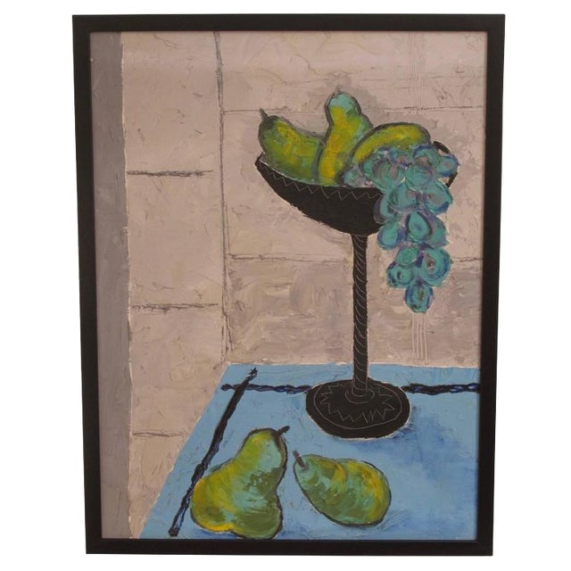 Grapes and Pears Still Life Painting For Sale