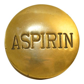 Vintage Aspirin Brass Pill Box For Sale