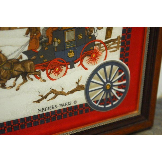 """Framed Hermes Scarf """"Bull and Mouth Regent's Circus Piccadilly"""" - Image 6 of 10"""