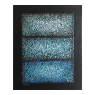 Neon Abstract Series IX Shads of Blue For Sale