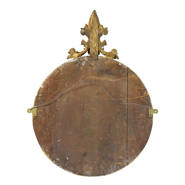 Victorian Giltwood Convex Mirror For Sale In Boston - Image 6 of 7