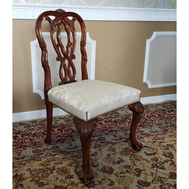 High Top Tier Karges Furniture Mahogany Chippendale Dining Room Chairs - Set of 8 For Sale In New York - Image 6 of 12