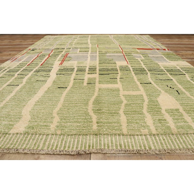 Textile Contemporary Moroccan Area Rug - 10' X 13'08 For Sale - Image 7 of 10