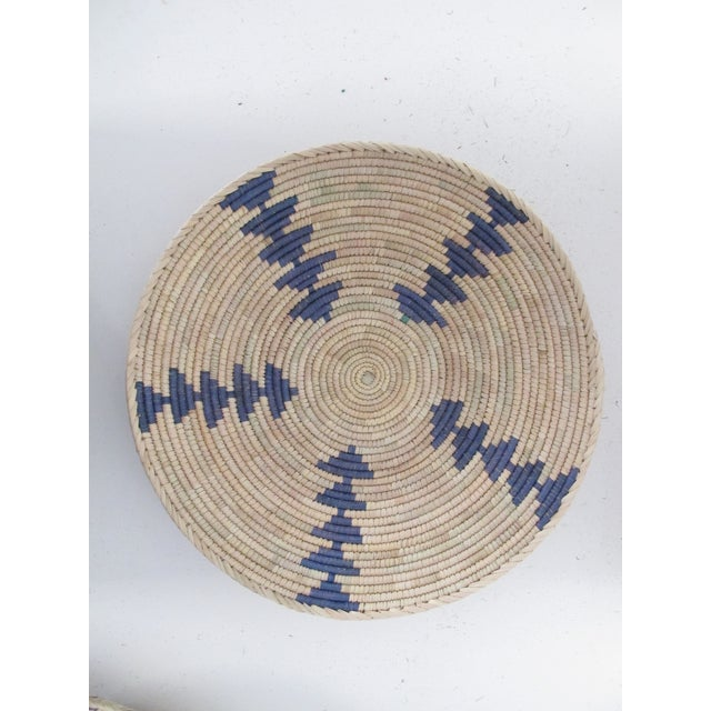 Native American Style Blue Arrow Basket - Image 2 of 4