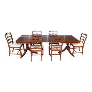 1930's Mahogany Dining Refurbished Dining Set For Sale
