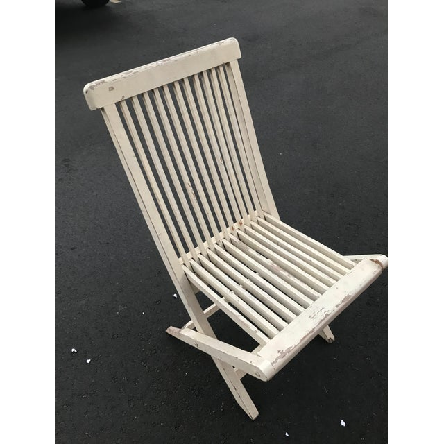 Late 19th Century Antique Swedish White Chair For Sale - Image 4 of 6