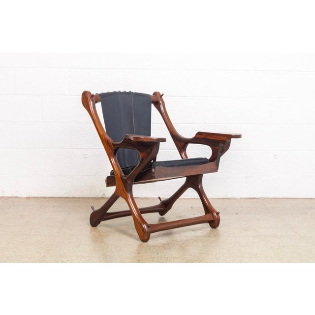 Mid Century Mexican Modern Don Shoemaker Swinger Chair With Ottoman For Sale In Detroit - Image 6 of 13