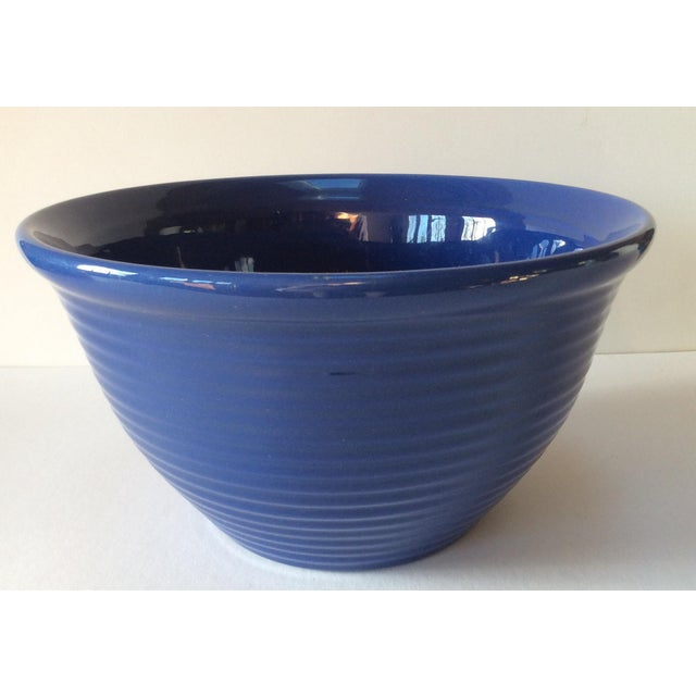 Vintage Bauer Blue Pottery Bowl For Sale - Image 6 of 6