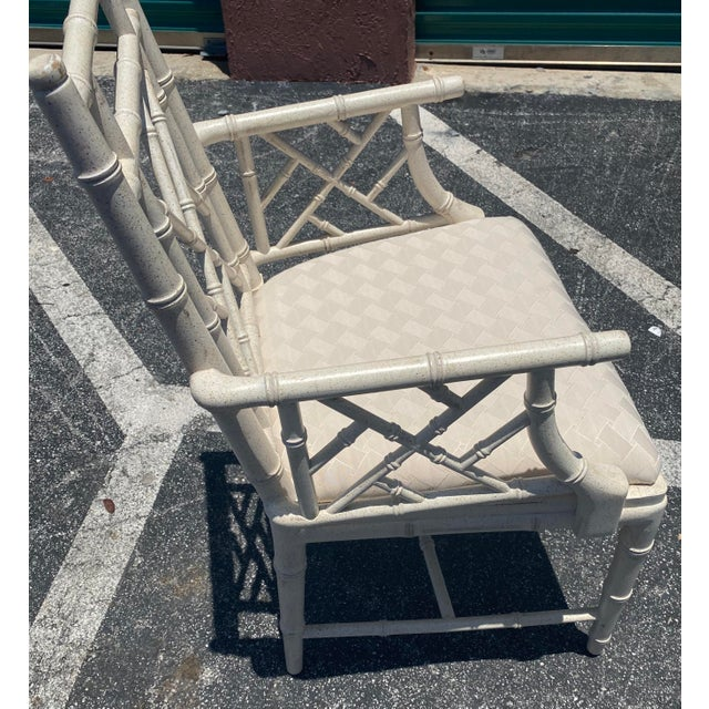 Mid 20th Century Coastal Lane Chinese Chippendale Arm Chair For Sale - Image 5 of 6
