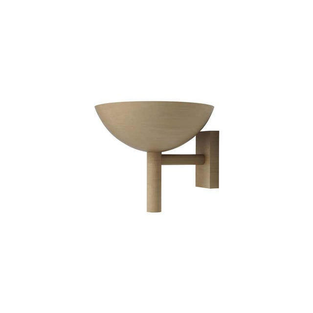 Not Yet Made - Made To Order Contemporary 200 Sconce in Brushed Brass by Orphan Work, 2020 For Sale - Image 5 of 5