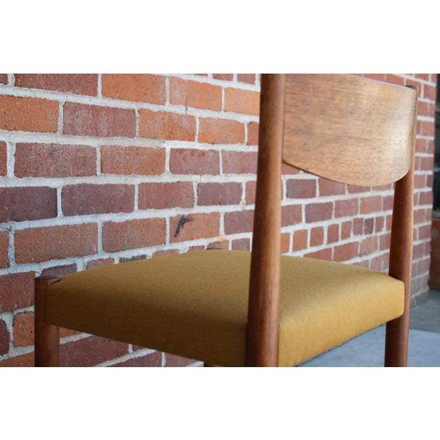 1960s Vintage Danish Modern Teak Dining Chairs- Set of 4 For Sale - Image 10 of 13
