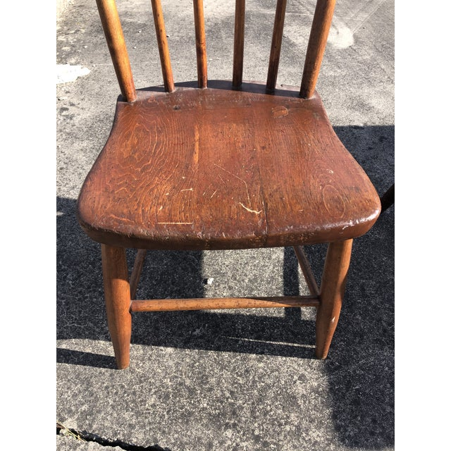 Rustic Vintage Rustic Schoolhouse Chairs - a Pair For Sale - Image 3 of 12