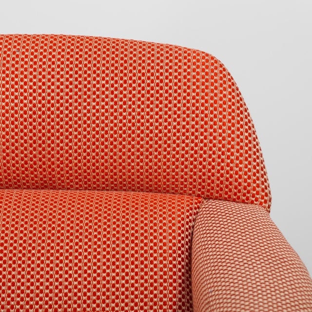 Orange A Danish Leif Hansen attributed Upholstered Armchair 1950s For Sale - Image 8 of 9