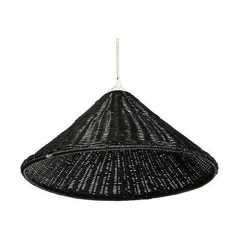 Black Wicker Hanging Pendant Lamp - Image 4 of 6