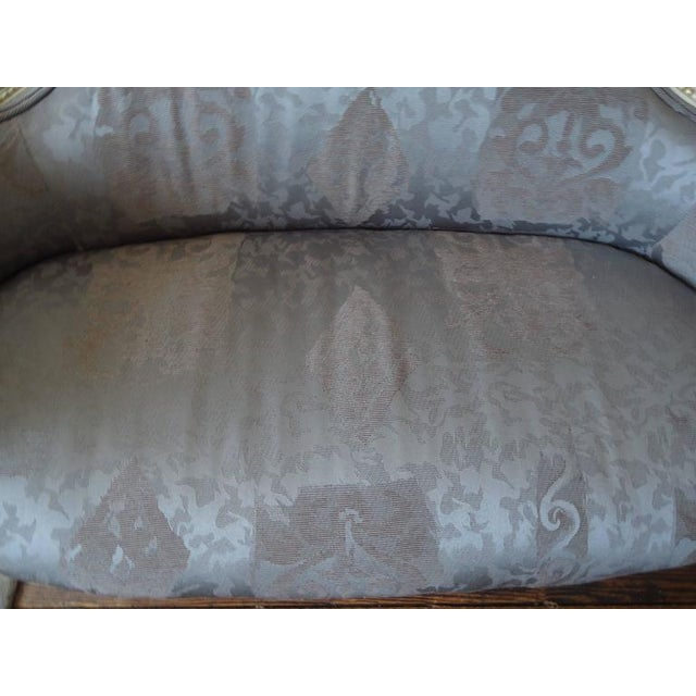 Antique French Small Settee Loveseat For Sale - Image 4 of 7