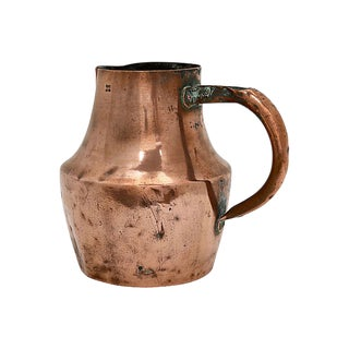 Large Antique French Copper Water Jug For Sale