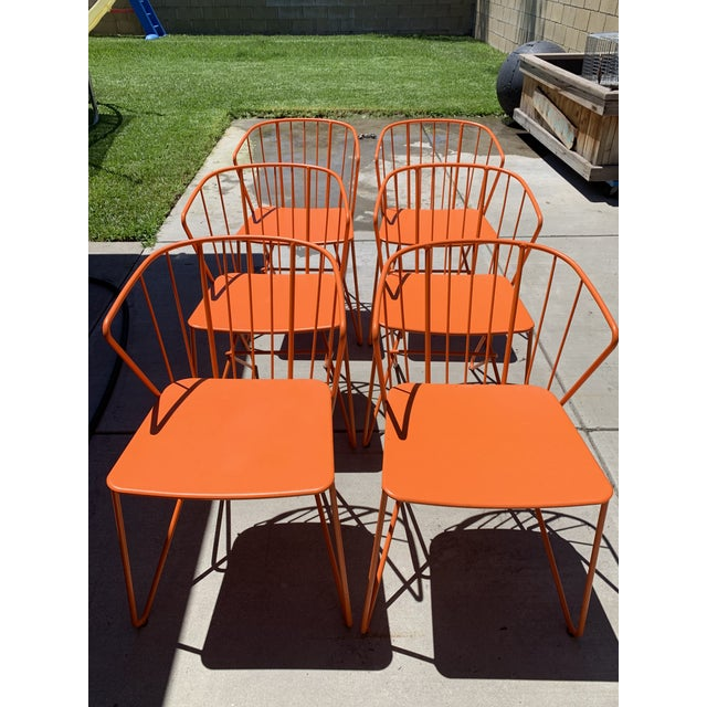 Fermob Fermob Flower Patio Chairs For Sale - Image 4 of 6