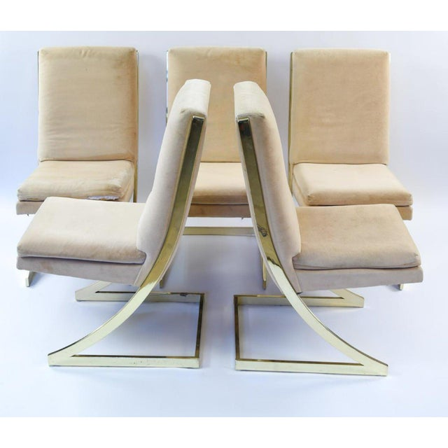 Mid-Century Modern Milo Baughman Cantilever Dining Chairs - Set of 6 For Sale - Image 3 of 8