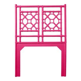 Lattice Back Headboard Twin - Bright Pink For Sale