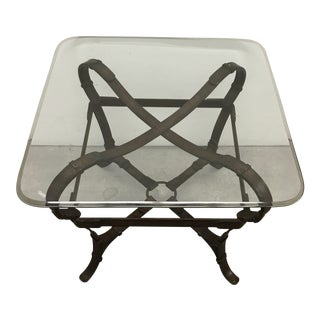 Hermes Attributed Iron Belt Occasional Table