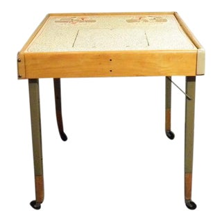Vintage Mid Century Children's Adjustable Learning Activity Table For Sale