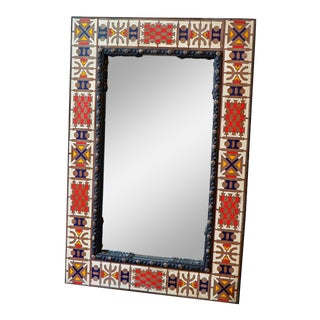 Decorative Moroccan Mirror By Artist Rahal For Sale