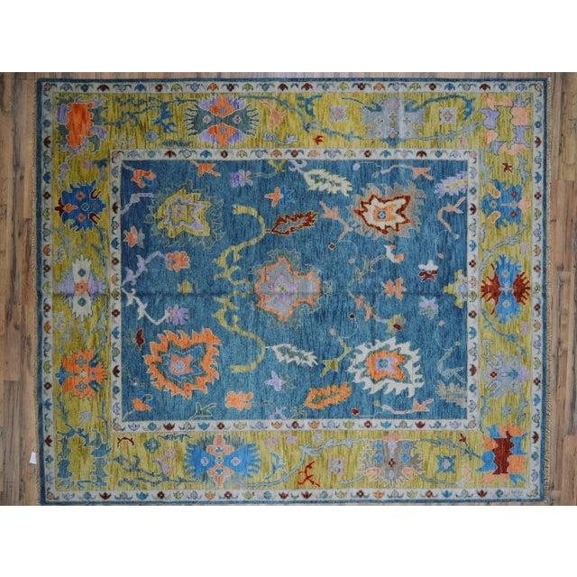 Blue Oushak Rug- 8′ × 10′ For Sale - Image 11 of 11