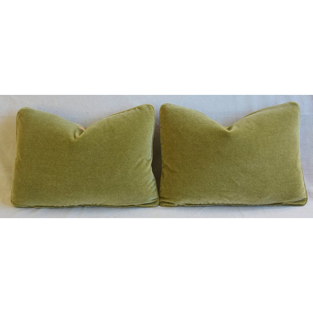 """Designer Floral Raoul & Scalamadre Mohair Pillows 23"""" X 16"""" - Pair For Sale - Image 10 of 13"""