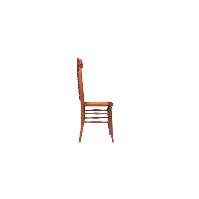 1910s John A Dunn Cane Seat Dining Chairs A Pair