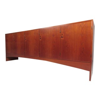 Large Scandinavian Modern Danish Teak Office Credenza by A/S Randers For Sale