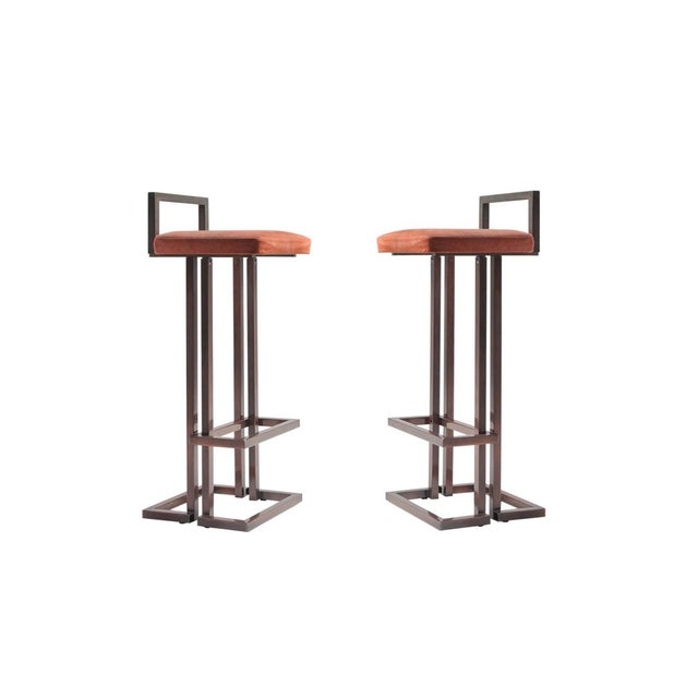 Maison Jansen Rose Metal Stools For Sale - Image 11 of 11