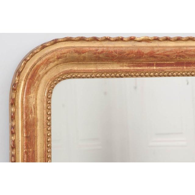 French 19th Century Gold Gilt Louis Philippe Mirror For Sale - Image 4 of 9