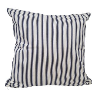 Blue Striped Pillow For Sale