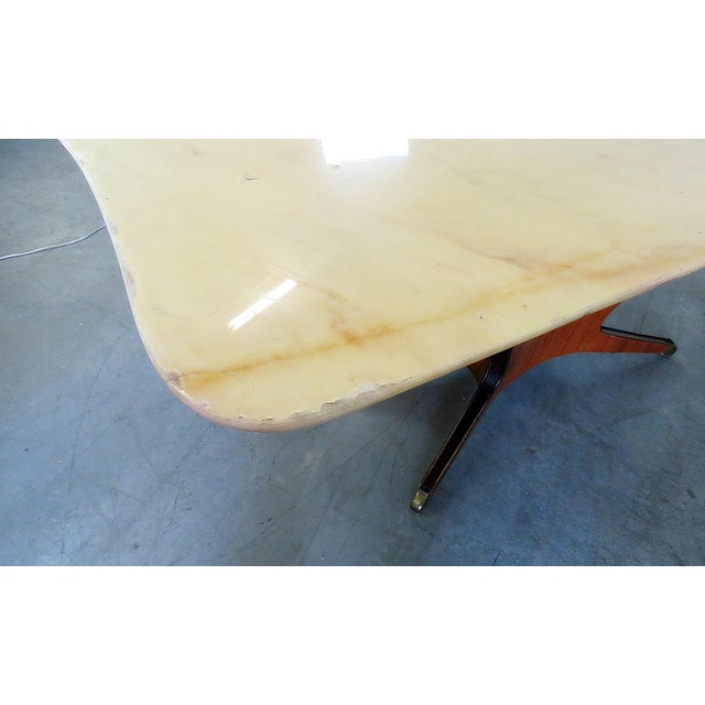White Borsani Marble Top Dining Room Table For Sale - Image 8 of 11