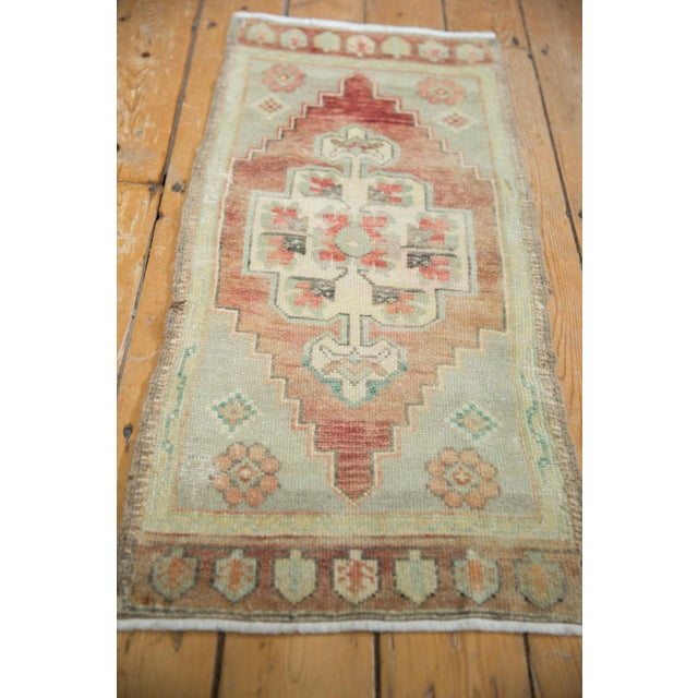 """Vintage Distressed Oushak Rug Mat Runner - 1'7"""" X 3'6"""" For Sale In New York - Image 6 of 8"""