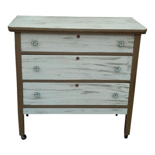 Antique Shabby Painted Dresser For Sale