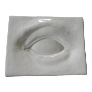 Large Porcelain Trompe-l'Oeil Eye Decorative Dish/Tray For Sale