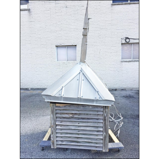 Vintage Large Wood Cupola with Aluminum Roof For Sale - Image 13 of 13