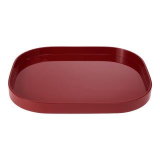 Large Stacking Tray in Garnet Red - Miles Redd for The Lacquer Company For Sale