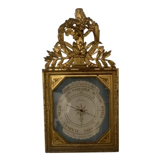 Late 20th Century Antique French Barometer For Sale