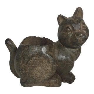 Vintage Wooden Cat Paper Mache Mold For Sale