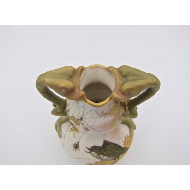Late 19th Century Austrian Art Nouveau Amphora RStK Ivory Porcelain Vase With Dragon Handles For Sale - Image 11 of 13
