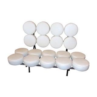 White Mid-Century Modern Marshmallow Sofa For Sale